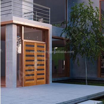 MODERN DESIGN Mahogany Wood Teak Wood Entry Door Front Door Wood Screen Door  With Glass Design