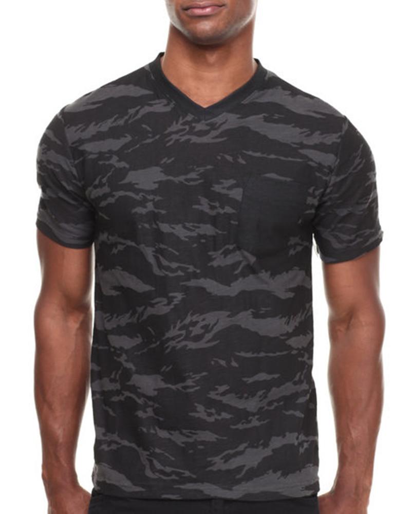 camouflage v neck t shirt