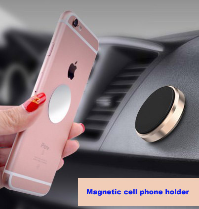 Universal 360 rotating mobile car mount magnetic phone holder;Strong powerful magnetic flat stick magnetic mount car holder