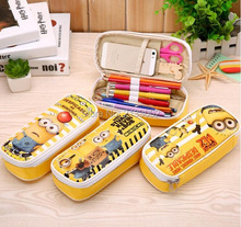 Cute Cartoon Despicable Me Minions Pencil Cases Kawaii School Suppliers Pencil Box Stationery Pen Pencil Bags For Childs