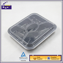 Eco friendly disposable pp plastic lunch box food container with divider