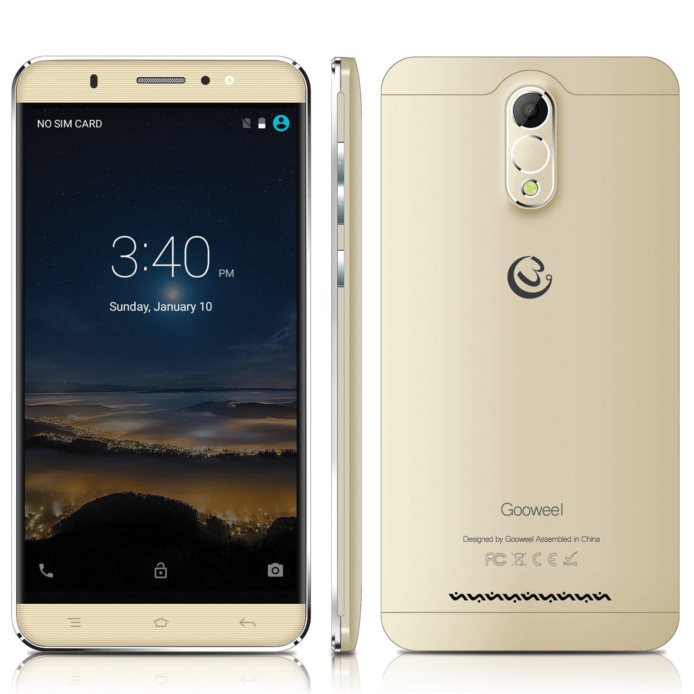 Gooweel M3 3G cell phone 6.0 inch IPS Screen MTK6580 Quad core smartphone 1GB Ram 8GB Rom 8MP camera GPS Mobile phone