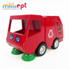 OEM mini pull back car toy garbage truck die cast model truck for kids