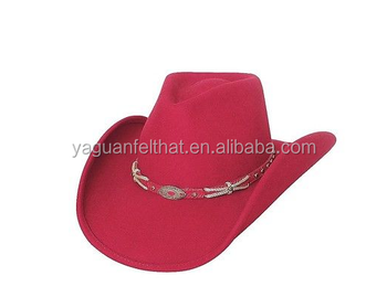 Factory Wholesale Fashion Men And Women Felt Cowboy Hat
