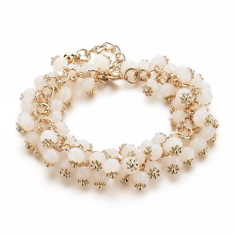 CHICVIE Handmade Gold Crystal Bracelets For Women Girls ...