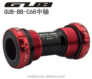 Free Shipping GUB C-68 Ceramic BB 68 Bottom Bracket Shell 68/73MM Screw/Thread Type BSA Crankset Bearings Bicycle Axis