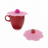 High quality food grade cute silicone tea cup lid