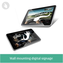 Floor stand android lcd digital signage kiosk with wifi and software