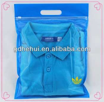 35 27cm Non Woven Clear Zip Lock Tshirt Packaging Plastic Bag