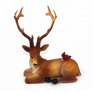 OEM Natal Christmas table decor Diy fairy deer crafts poly resin figurine