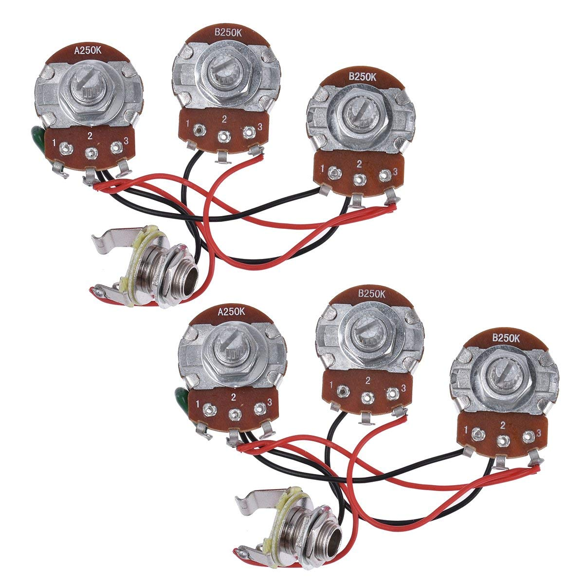 Cheap Guitar Volume And Tone Pots Find Wiring Harness Jack 3 500k 5 Way Switch For Fender Get Quotations Bass Prewired Kit 250k 2 1 Jazz Parts