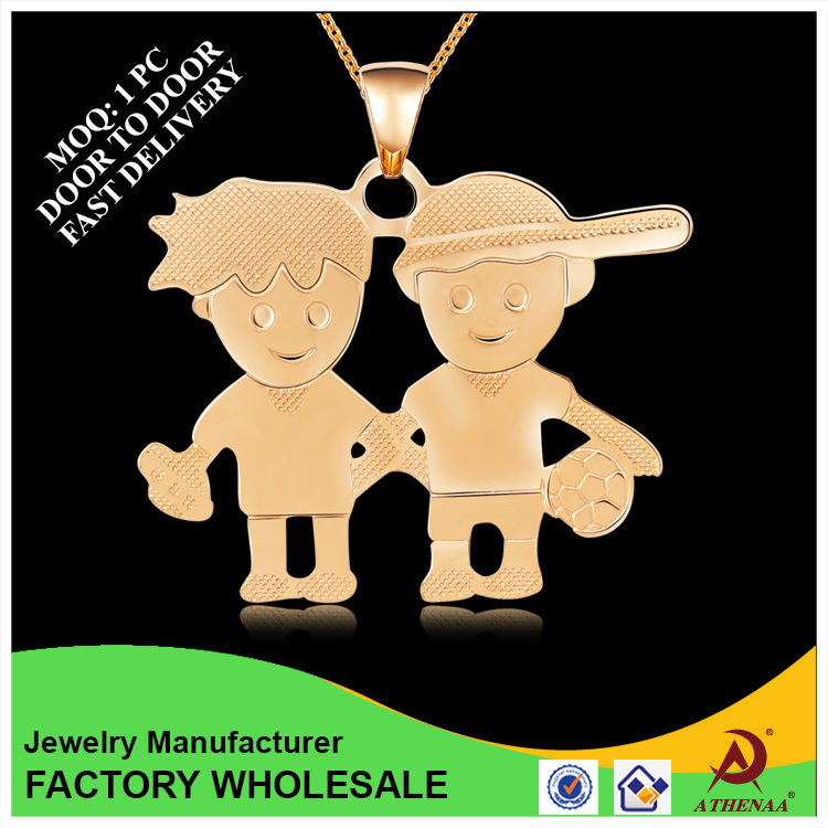 Luxury Lovely Pendant Boy And Girl Different Types Of Gold Pendant Chain Jewelry
