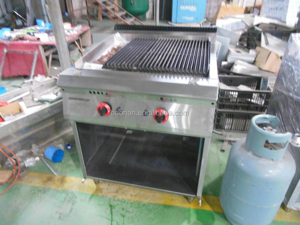 Restaurant Commerical Kitchen Equipment Gas Lava Rock En Grill Bn600 G606