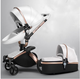 2018 High Quality Baby Stroller 3-In-1, Leather Material Baby Stroller 3 In 1 or 2 in 1