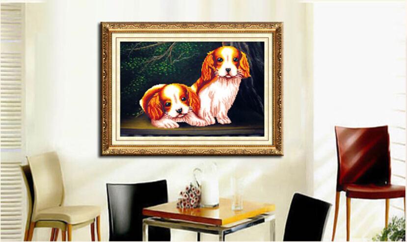2015 DIY diamond embroidered French DMC home decor diamonds picture diamond embroidery dog free shipping