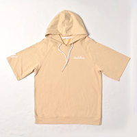 Wholesale cool blank short sleeve hoodie Hooded sweater