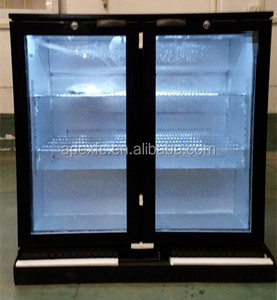 Under Counter Back Bar Cooler Used Mini Bar Refrigerator with Glass Door