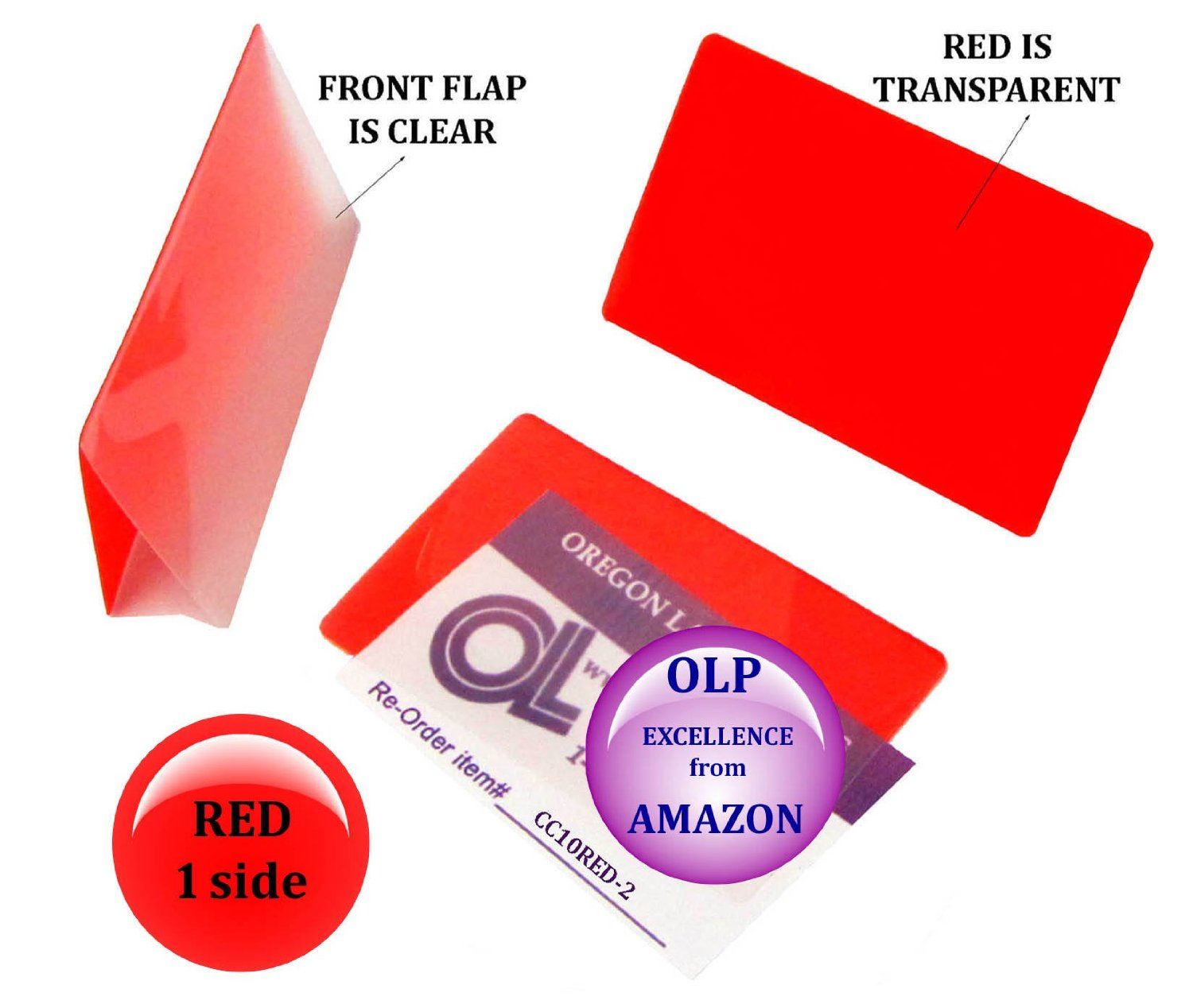 Oregon Lamination Hot Laminating Pouches Credit Card (pack of 200) 10 mil 2-1/8 x 3-3/8 Red/Clear