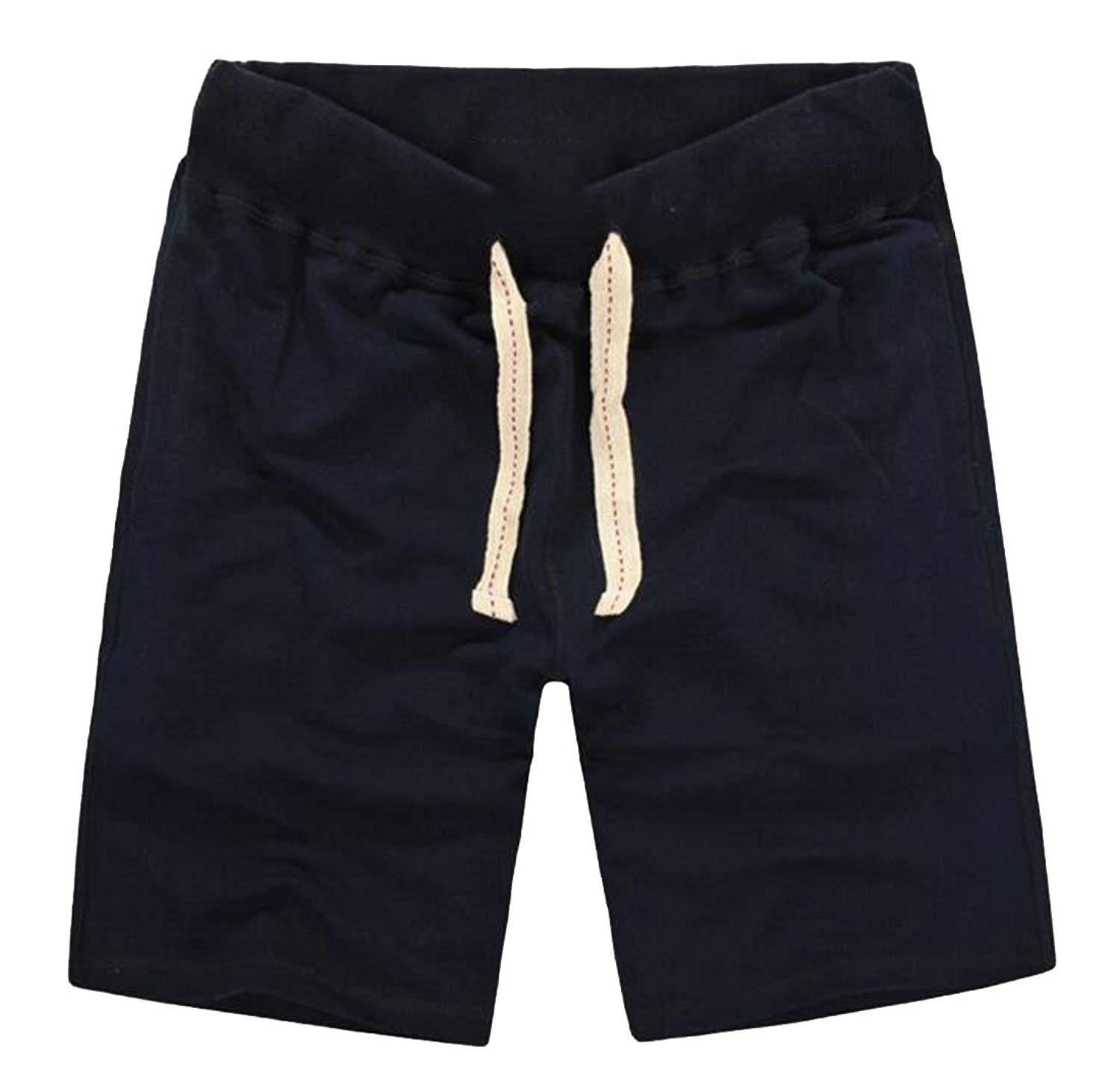8253852d63 Get Quotations · Pivaconis Mens Short Pants Active Comfort Stretch Beach  Drawstring Cotton Shorts