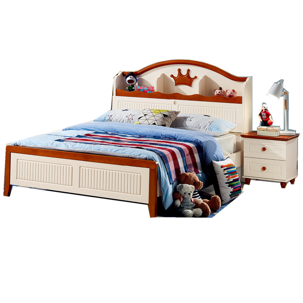 Children bedroom furniture solid wood kids bed
