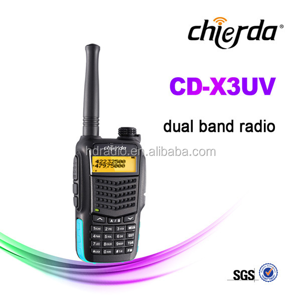 Wireless walkie talkie system with radio receiver dual band cb radios CD-X3UV
