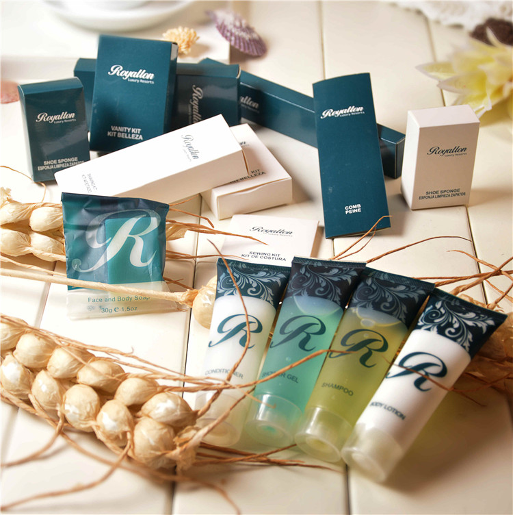 wholesale hotel bathroom amenities one time use toiletries/disposable hotel guestroom amenity set manufacturing