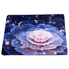 Free sample sublimation printed polyester cloth rubber mouse pad
