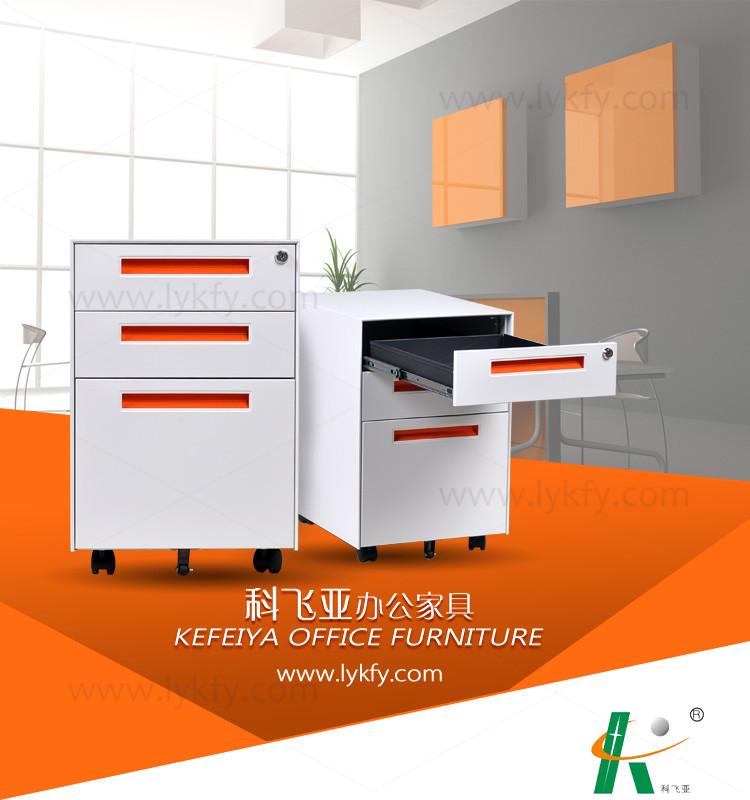 Cushion Top 3 Drawer Mobile File Cabinet Lemari Arsip Baja - Buy ...