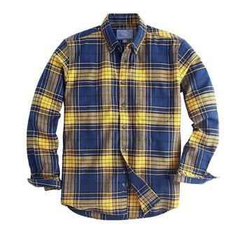 Flannel bright color plaid shirts for men tartan vintage for Neon colored t shirts wholesale