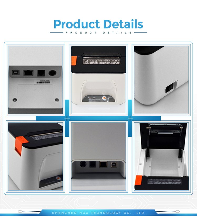 High Quality Auto Cut 80mm Desktop Ethernet POS Thermal Receipt Printer HCC-POS890