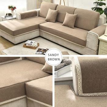 Chesterfield Elastic L Shape Sofa Seat