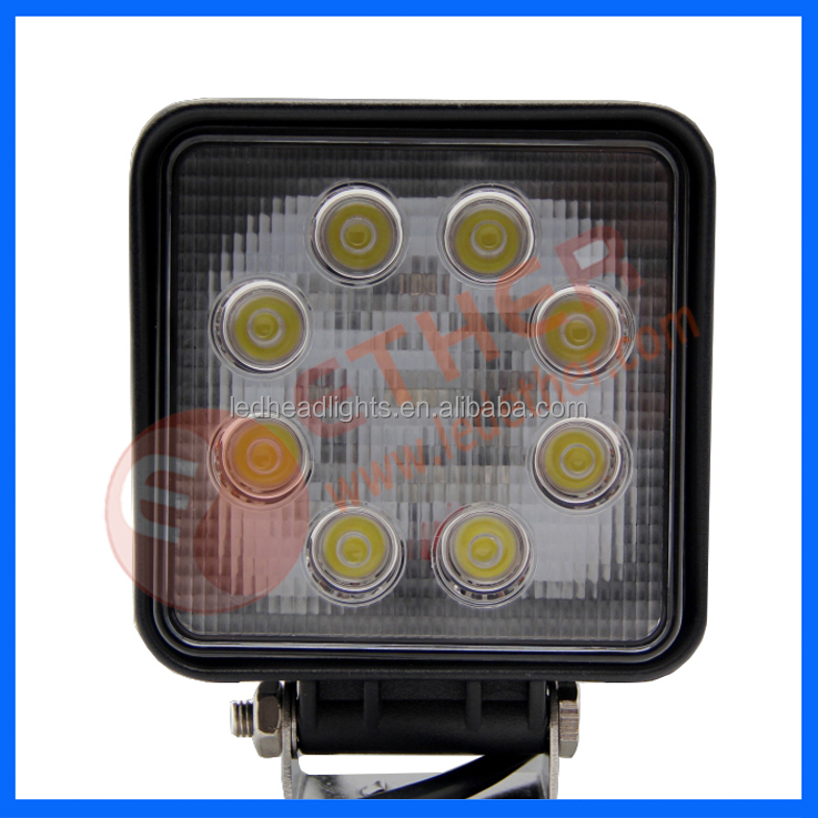 CE RoHs 24w IP6K9K auxiliary work light for construction,agriculture,mining vehicle