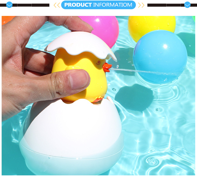 Plastic duck spray water game egg tub town toys penguin bath toy