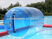 crazy inflatable floating water wheel/ inflatable water sports