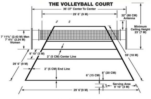 Outdoor Volleyball Court Interlocking Plastic Flooring ...