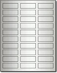 """3/4"""" x 2 1/4"""" Silver Foil Labels - 100 Sheets / 3000 Labels"""