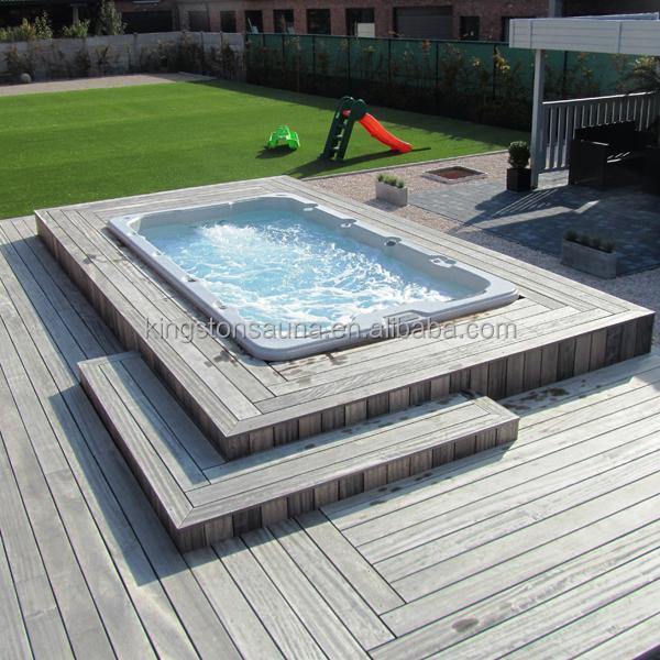 Fiberglass Pool Mini Outdoor Swimming Pool Endless Swim Spa