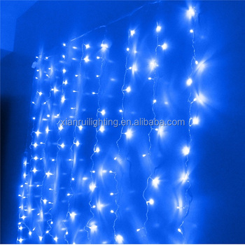Outdoor/inddor Christmas Decor Led Curtain Light Solar Low Voltage ...