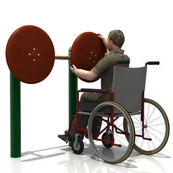 disabled outdoor fitness gym equipment