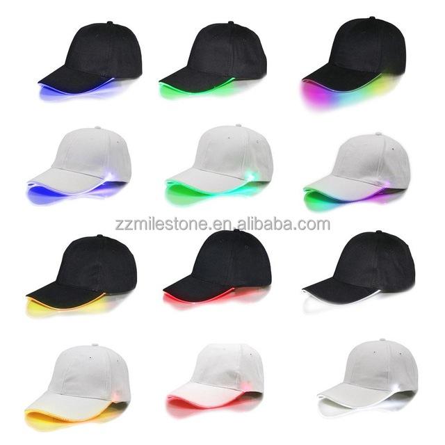 Unisex LED Light Up Hat Sport Baseball Hip-hop Adjustable Club Night Fishing Cap