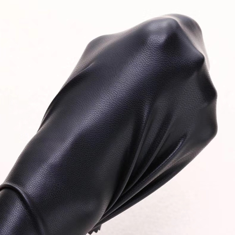 High 4-way Stretch popular PU leather sheet garment fabrics faux leather for apparels pants cloths