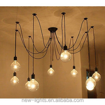G125 vintage edison bulb chandelier indoor residential modern led g125 vintage edison bulb chandelier indoor residential modern led hemp rope chandelier pendant lamp aloadofball Image collections