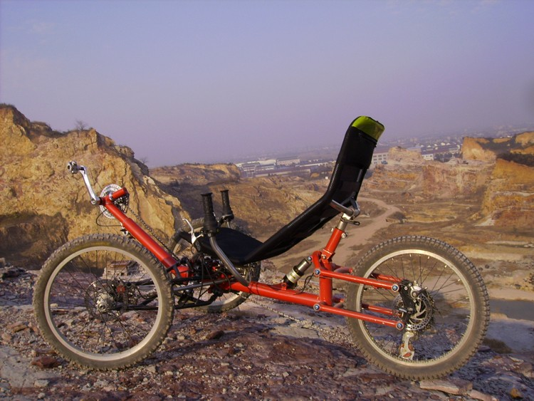 Suspension Recumbent Foldable Climbing Trike Mountain Bicycle 3