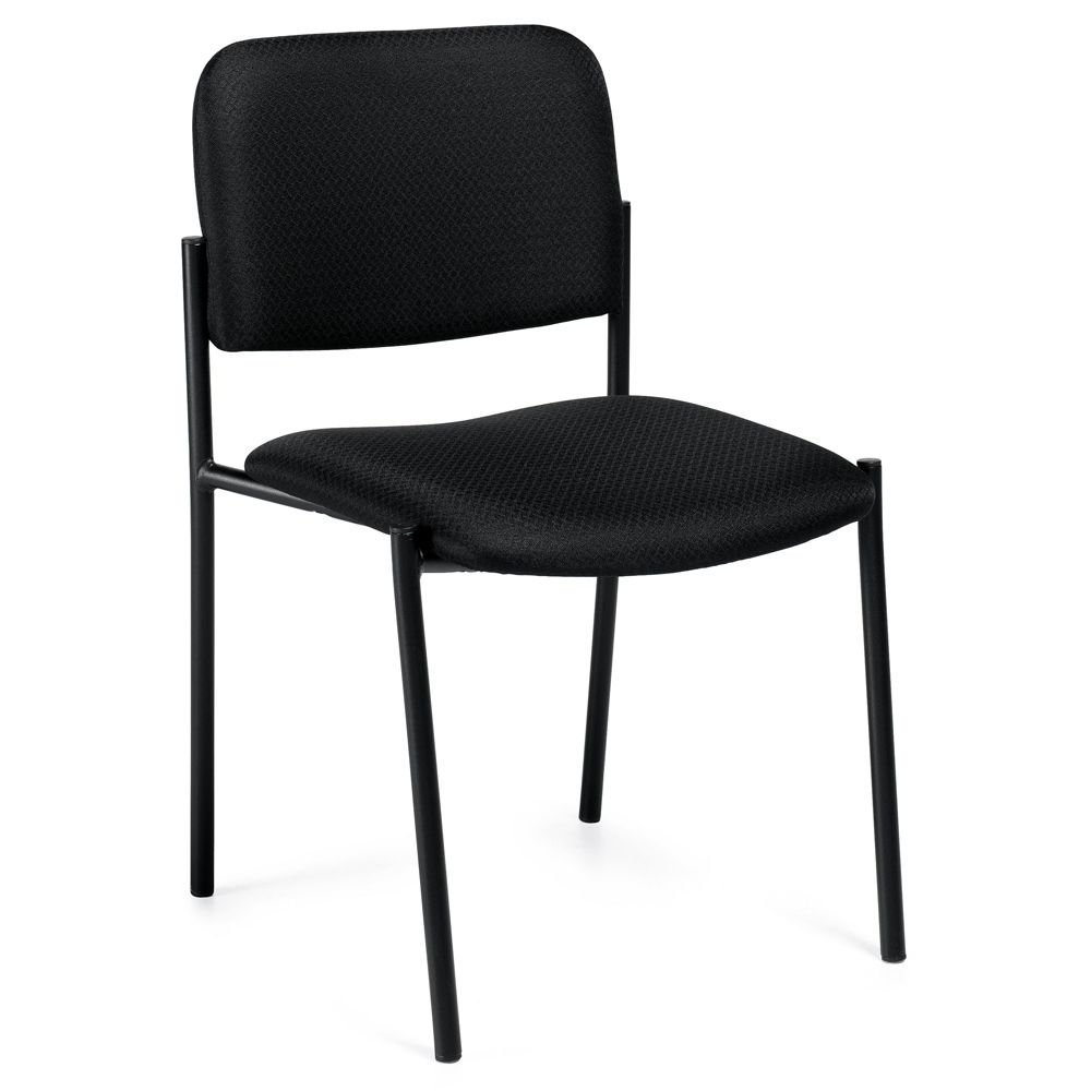 "Burleigh Straight Leg Fabric Stack Chair Black Fabric/Black Epoxy Powder Coated Frame Dimensions: 19.5""W x 22.5""D x 32""H Seat Dimensions: 18""Wx17.5""D"