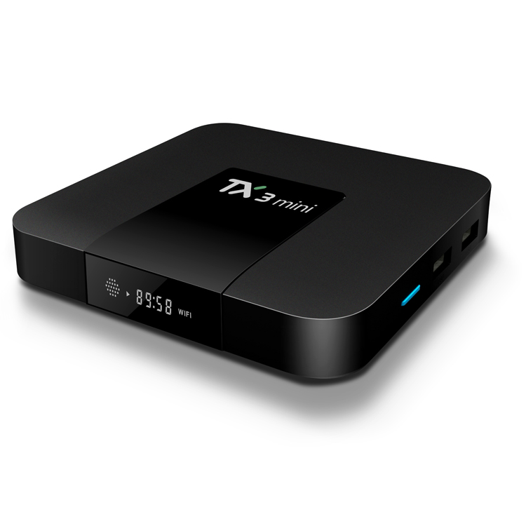 Amlogic S905X TX3 mini Wifi 4 k Full HD Streaming de desi tv set top box android 7.0 caixa de tv polonês