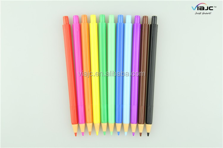 New design pencil shape ballpoint pen can be change to Automatic pencil