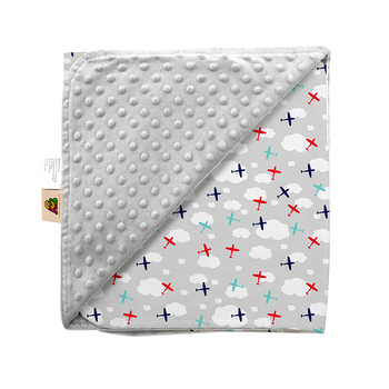Ready To Ship Drop Shipping Flannel Fleece Receiving Minky Dot Baby Comforter Blanket