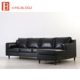 American vintage PU picture of furniture living room wooden sofa set design