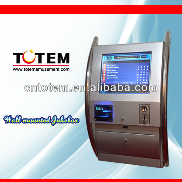 Attractive wall moutned coin operated jukebox karaoke machine