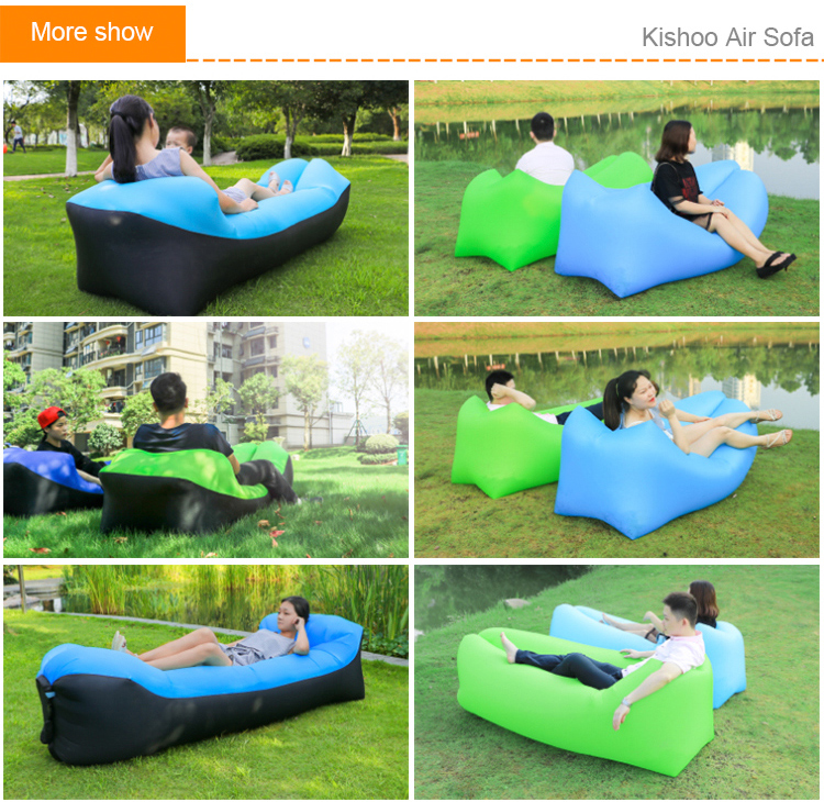 portable inflatable lounger outdoor sports air sofa camping sleeping bag